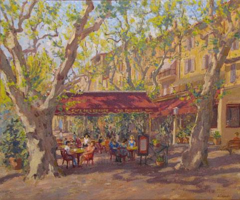 Le café de l'Europe peint en 2012.