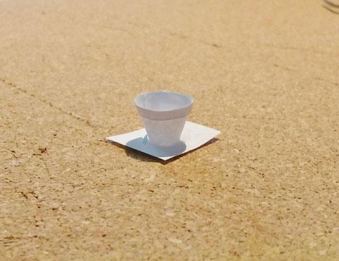 Miniatur-Blumentopf selber machen