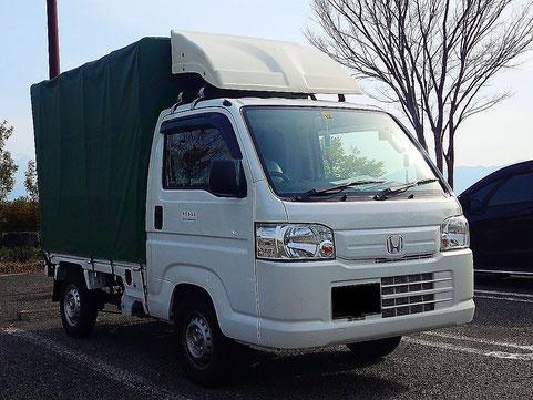 堺市 大阪市 軽トラック 軽四輪 幌車 軽貨物車両
