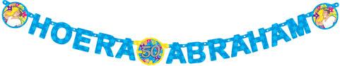 Letterslinger ''Hoera Abraham'' € 2,50
