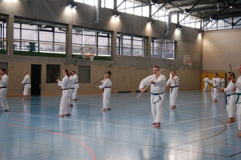 Training der Sakugawa no kon