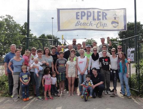 Volleyball-Abteilung des TV Eppelheim am 22.5.2015