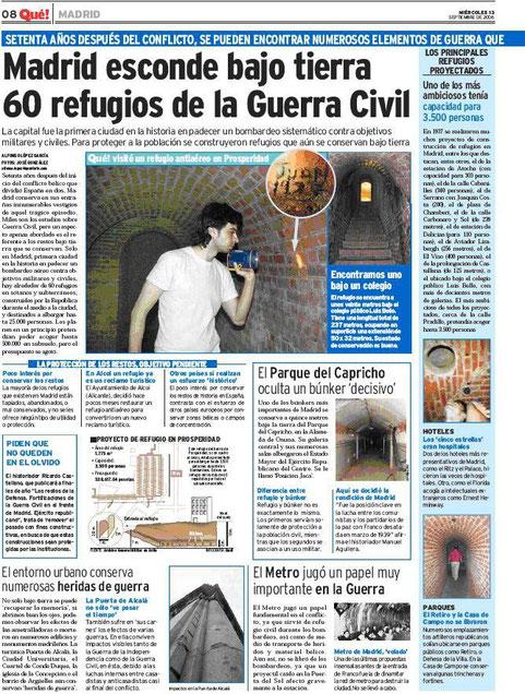 Periodico Que 13 de septiembre de 2006