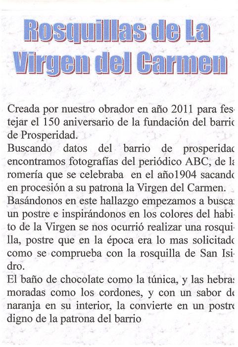 Autor del texto Esteban Fernández de la pastelería Valle Olid C/López de Hoyos 110
