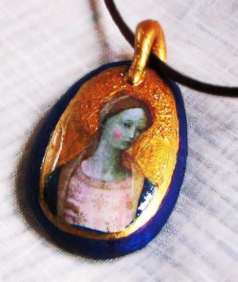 AS 16 - Médaillon Vierge couleur bronze