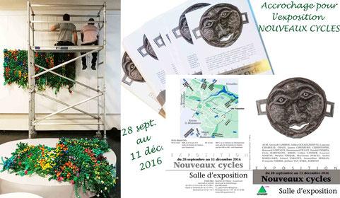 """Installation de """" Mur végétal """" Salle d'exposition de la Ville de Guyancourt - 11 place Bérégovoy"""