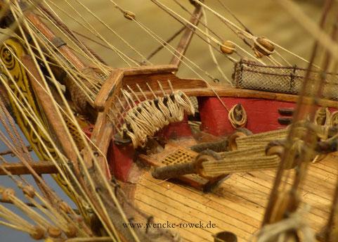 Makroaufnahme eines Schiffsmodells in Husum