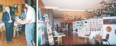 """Kunstausstellung: Schweiz, Thuner See """"Schloßhotel"""""""