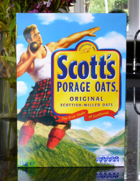 Scott's Porage Oats' box