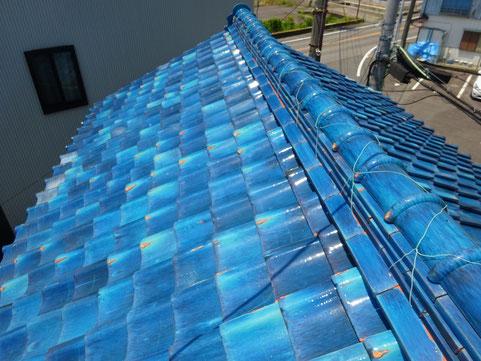 ビフォー:古い土葺き屋根