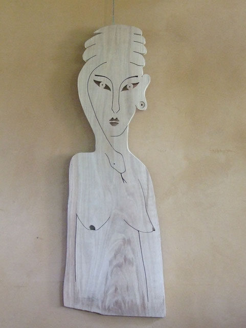 La femme-serpent. Chène 2015. (105x36cm). 500€