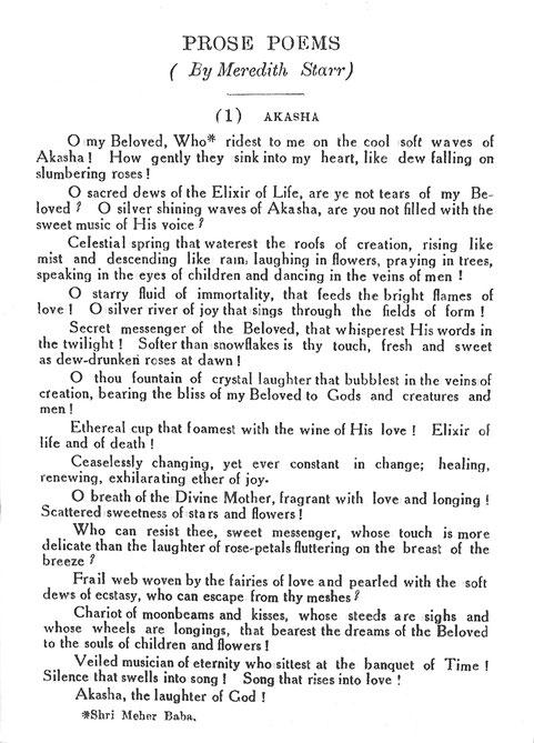 Courtesy of Meher Messenger magazine ; Vol.2 - No. 1 - 1930 - p.19