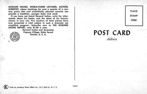 Postcard - rear