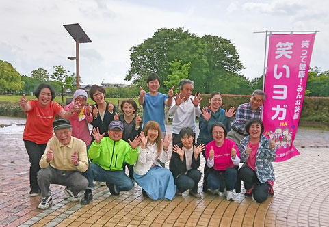 2019年5月18日鈴の森公園笑いヨガ(ラフターヨガ)松阪市