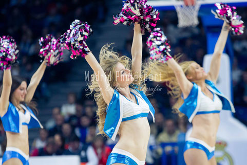 Baloncesto. Euroliga, Real Madrid, Estrella Roja. Cheerleaders