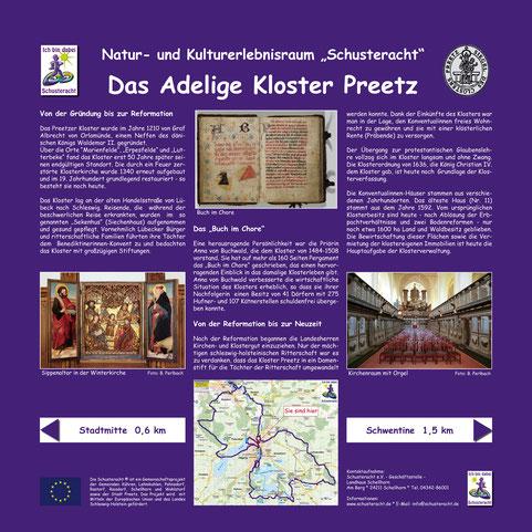"""Schusteracht-Infotafel: """"Das Adelige Kloster Preetz"""""""