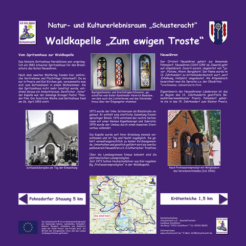 "Schusteracht Infotafel ""Waldkapelle Zum ewigen Troste"""