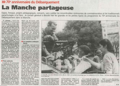 Presse de la Manche, 17.12.2013