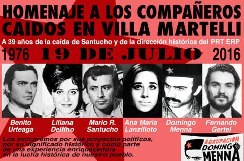 Poster fra et offentligt mindemøde i Buenos Aires i 2016