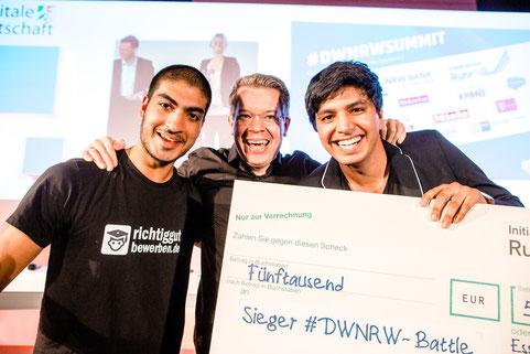 Gewinner des DW-NRW-Startupevent im November 2016