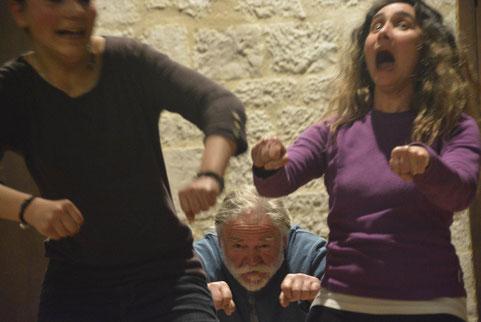improvisation sur la fête foraine lors d'un Dimanche-Théâtre