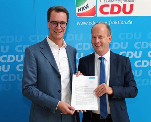 Hendrik Wüst, MdL, und André Busshuven