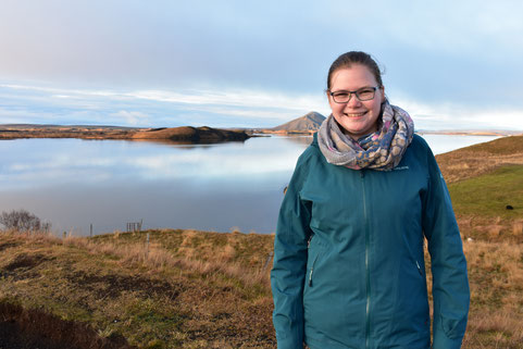 Johanna Meyer am Mývatn
