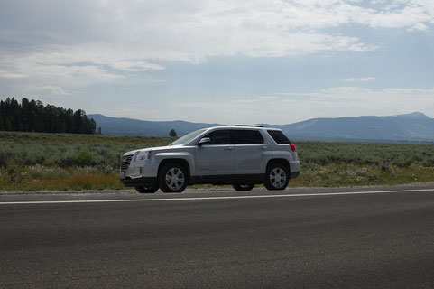 Rental car GMC in Grand Teton USA