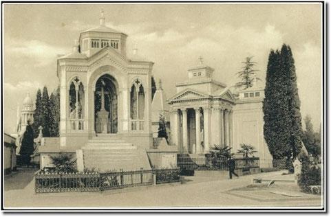 Postkarte um 1900 vom Cimitero Monumentale
