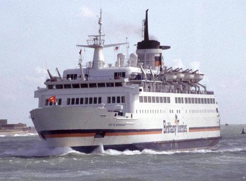 MV Duc de Normandie arrivant à Portsmouth.