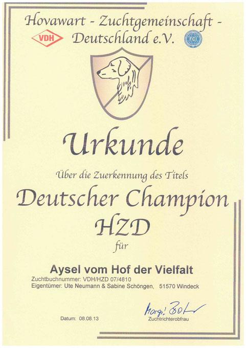 jetzt auch offiziell: Thaler ist Champion der HZD