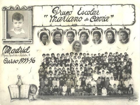 Grupo Escolar Mariano de Cavia. Curso 1955-56
