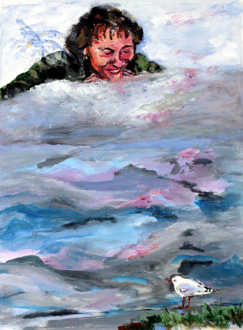 """Im Dialog"", 2013, Acryl, 40 x30 cm"