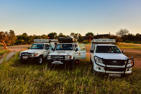 Lilly the Landy, Chris the Cruiser and Heinz the Hilux