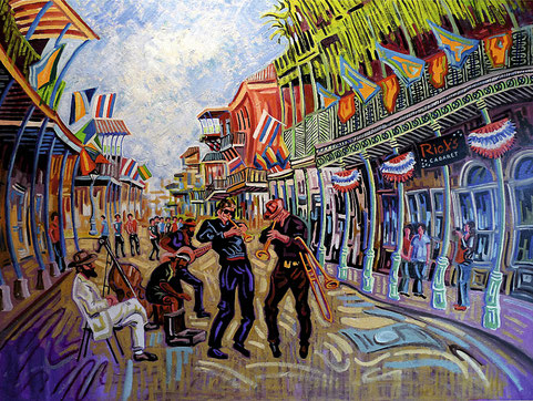 FRENCH QUARTER (NEW ORLEANS). Oil on canvas. 130 x 97 x 3,5 cm.