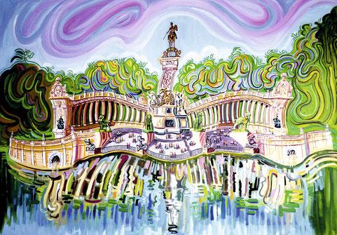 ALFONSO XII (MADRID). Oleo sobre lienzo. 100 x 140 x 3,5 cm.