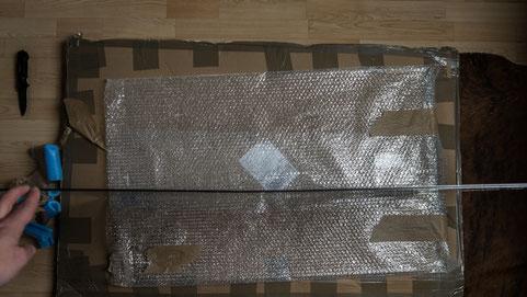 Durchgebogene Alu-Dibond Platte beim ZOR Wandbild