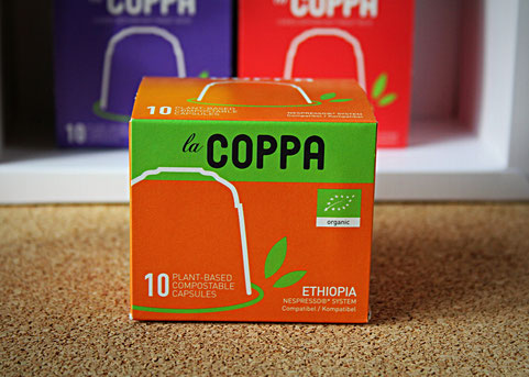 LaCoppa Ethiopia - pflanzenbasierte, kompostierbare Kaffeekapseln