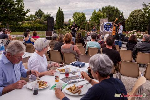 Docteur Nietzsche Quartet. Restauration sur place. Festival JAZZ360 2018, Cénac. Vendredi 8 juin 2018. Photographe : Christian Coulais