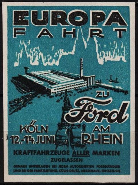 Werbung 1931 für Ford in Köln