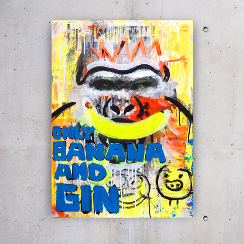 Ted Fox Pop Art: Only Banana and Gin