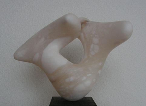 expérience du calme - albâtre blanc-nuage translucide 2012 22cm