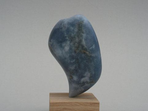 pour une planète durable - albâtre bleu 16cm