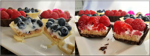 recette dessert chocolat framboise cassis