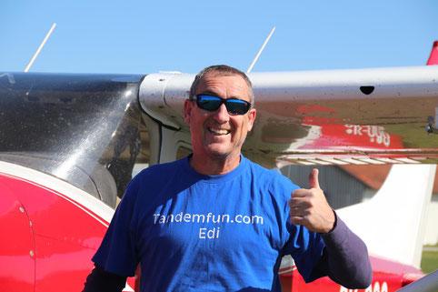 Tandem-Fallschirmsprung mit Tandemfun