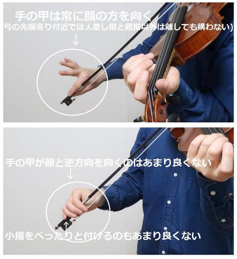 バイオリン 右手 右腕