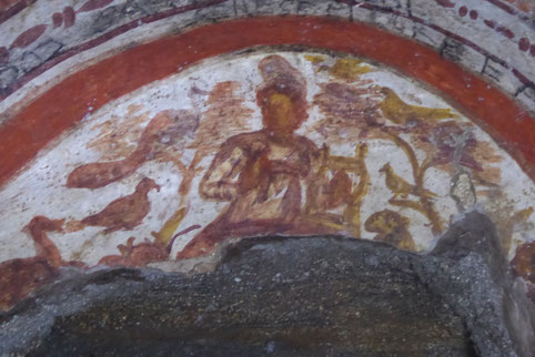 Orpheus - Darstellung in der Domitilla-Katakombe, Rom