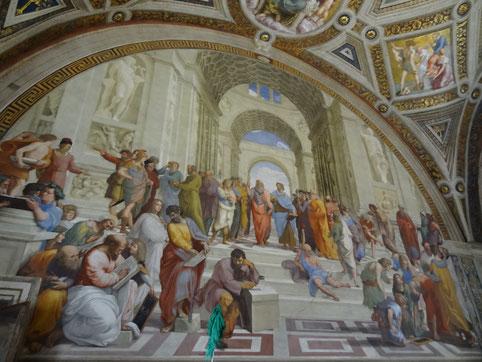 """Schule von Athen"", Vatikan. Museum, Rom"