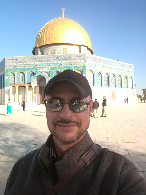 The author on the Temple Mount