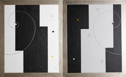 Body & Image 21  1000mm×606mm  (500mm×606mm each)  F12×2  Acrylic 2015